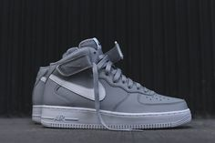 "Nike Air Force 1 Mid 07 ""Wolf Grey"" - EU Kicks: Sneaker Magazine"
