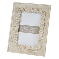 Classic Elegance Embossed Rose Frame   Dunelm