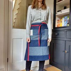 Denim half apron 18 piece Boro' apron individual one of