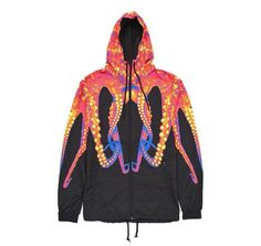Iuter Octopus Black & Orange Windbreaker