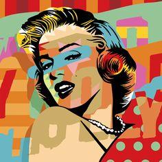 Holly Marilyn | Lobo | Pop Art www.lobopopart.com.br | Marilyn Monroe
