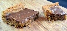 peanut butter bars. So good.    The recipe makes a lot, so you might need to share ;)