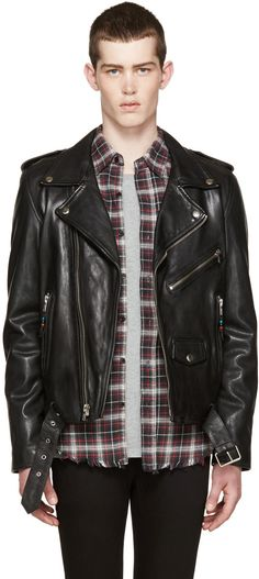 BLK DNM - Black Leather Classic Moto 5 Jacket
