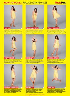How to pose full-length female portraits: free posing guide Mais Portrait Poses, Female Portrait, Poses For Photos, Photo Poses, Studio Posen, Portrait Photography, Photography Lessons, Free Photography, Photography Tutorials