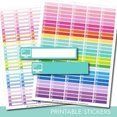 Work stickers, Work planner stickers, Work printable stickers, Monitor stickers, Computer stickers, PC stickers, Data stickers, STI-183