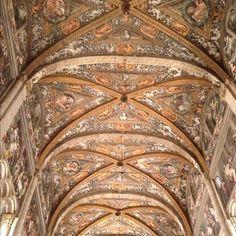 La meravigliosa volta della navata centrale della Cattedrale di Parma - Instagram by @Sara Querzola