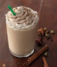 Chai creme frapp...If you love chai tea lattes like I do, this is heaven in your mouth <3