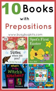 Books with Prepositions (in, on, under) » BusyBug Kits #learn #spanish #kids …