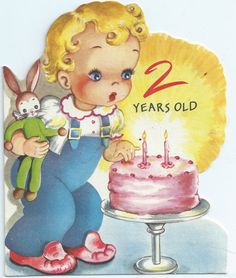 birthday card, greet card, vintag card, vintage greeting cards