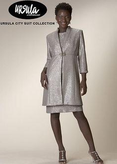 Ursula Womens Shimmer Shantung Formal Coat Dress 43139 image