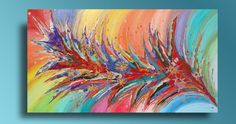 #ARTFINDER: #Floral #Abstract #Art, #Colorful #Flower ... by #JuliaApostolova - ''#Dreaming of #Spring'' and #outside is #already spring! One of my recently colorful #floralabstract #painting with #gorgeous #details and #wonderful #rainbow #color...