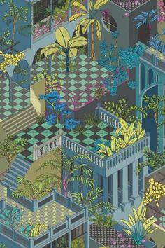 Cole & Son Geometric II - Miami - 2 Colours Available