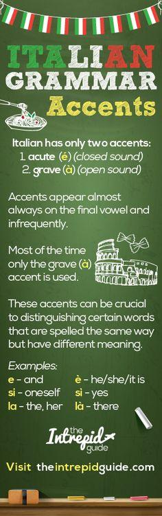 Learn Italian Grammar - Italian Accents Explained
