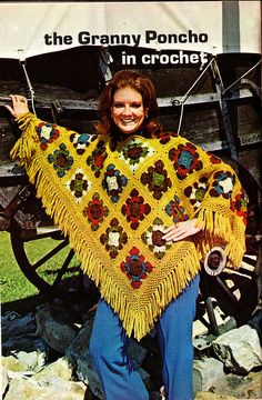 Baby boomers knew how to rock a poncho.