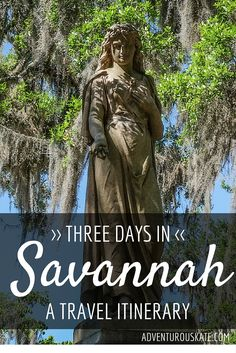 Savannah is the perfect destinationto explore over a weekend. It's a small city, you can see most of it on foot, and just walking from place to place is j