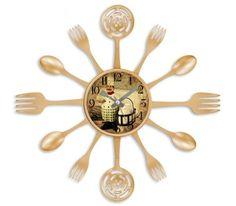 Galaxy Aşçı Çatal Kaşık Duvar Saati ( Buzdolabı Saati Hediye ) - evmanya.com