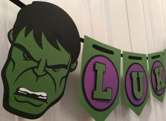Custom Hulk Party Banner by Flair4Paper on Etsy https://www.etsy.com/listing/241226640/custom-hulk-party-banner