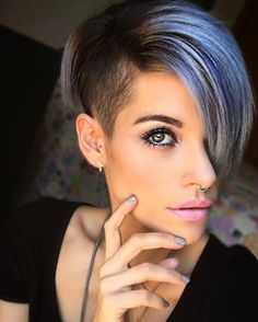 Silver purple with undercut