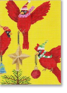 CBK Needlepoint. Birds!!!