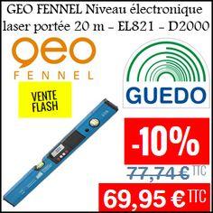#missbonreduction; Vente flash:  10% de réduction sur GEO FENNEL Niveau électronique laser portée 20 m - EL821 - D2000. http://www.miss-bon-reduction.fr//details-bon-reduction-Guedo-Outillage-i857650-c1830740.html
