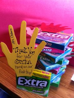 cute idea to thank parent chaperones for coming on field trips :)