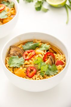 Eggplant Coconut Curry Ramen   Fareseason.com This is something I could use my frozen eggplant on.