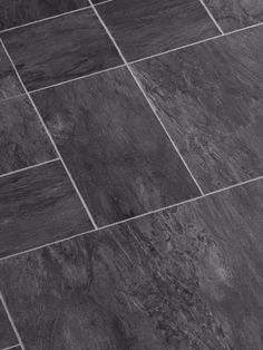 Faus 8mm Night Black Slate Laminate Flooring