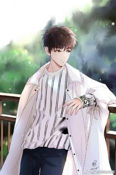 Anime Fox Boy, Hot Anime Boy, Anime Boys, Manga Anime, Anime Art, Cool Anime Guys, Cute Asian Guys, Boy Illustration, Cartoon Boy