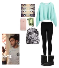 """""""/: w/Nate Maloley"""" by mell-rosee ❤ liked on Polyvore featuring Vera Bradley, Wolford and UGG Australia"""