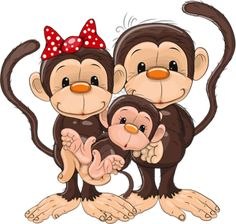 Similar Images, Stock Photos & Vectors of Cute cartoon monkey. Vector clip art illustration with simple gradients. Monkey Drawing, Monkey Art, Cute Monkey, Cartoon Monkey, Cute Cartoon, 5 Little Monkeys, Sock Monkeys, Monkey Crafts, Animal Cutouts