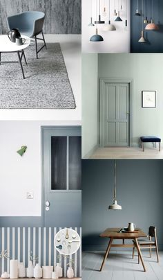Appunti di casa: Arriva in Denim Drift {e la Minicasa è pronta! Wall Colors, House Colors, Colours, Style At Home, Color Of The Year 2017, Deco Design, Bedroom Colors, Home Staging, Interior Inspiration