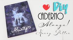 DIY volta às aulas: Caderno Harry Potter - Always - Patrono Snape e Líli...