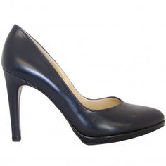 3ccc4cf1f11 Peter Kaiser Herdi classy navy leather stilettos - modern flattering court  shoes in timeless navy colour