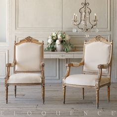 Eloquence Pair of Vintage Armchairs: 1940