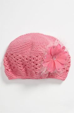 PLH Bows & Laces Crochet Hat (Toddler) available at #Nordstrom    her hat that still fits!