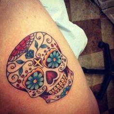 sugar skull tattoo for women | Mexican-Sugar-Skull-Tattoos-For-Girls.jpg