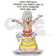 Old lady in bikini funny birthday card birthday greeting pinterest 14 awesome old lady happy birthday clipart images m4hsunfo