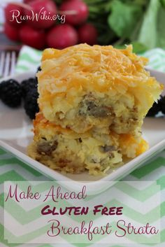 Although this is a Gluten Free Breakfast recipe idea, I served it at a potluck and it was gone in seconds. The gooey cheese melted with the eggs and it's a Make Ahead- so quick and easy- this is one of my most popular recipes! Would be great Christmas morning.