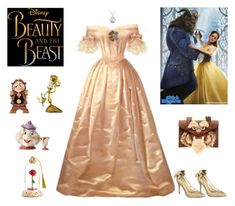 """""Beauty And The Beast"" Outfit"" by billsacred ❤ liked on Polyvore featuring Emma Watson, Lenox, Danielle Nicole, Menbur and Disney"