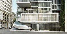 Herzog & de Meuron's 56 Leonard's NYC with a specially commissioned work by Anish Kapoor
