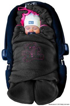 ByBUM - Babynomade Couverture Enveloppante Hiver Universelle Multi-Usages, pour Coques Bébé, Sièges Auto (p.ex. Maxi-Cosi, Römer, etc), 40 €