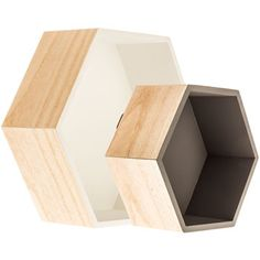 Gray & White Hexagonal Wall Shelf Set from hobby lobby--could i make these myself?