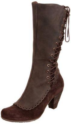 Dkode Women's Iasmin Suede Dark Brown Knee High Boots
