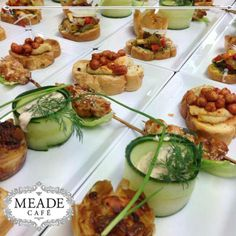 Meade Cafe has the most delicious tappas. Visit us for these and other delightful snacks. Zucchini, Snacks, Vegetables, Food, Appetizers, Essen, Vegetable Recipes, Meals, Yemek