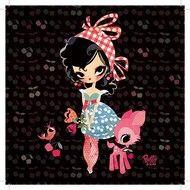 Hippe Kaart Lillidoll in zwart met Luxe Parelmoer envelop van Betty & Cie. -Kinderkapstok, kinderlampen, Kinderkamer-Accessoires en Muurstickers bij Dreumes enZo alles voor de Kinderkamer of Babykamer.
