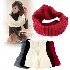 25% Off Korea Fashion Autumn / Winter Warmer Neck Circle Cowl Scarf Shawl Wrap Loop