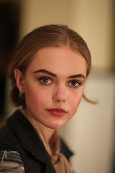 It's nice not having to pluck my eyebrows, but sometimes I would like to have thick eyebrows like these.