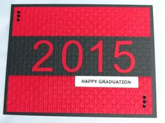 Stampin Up Graduation, Simple, and would be great to offer customization on the color cardstock.