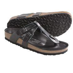Tatami by Birkenstock Adana Sandals - Leather (For Women) in Blade Black