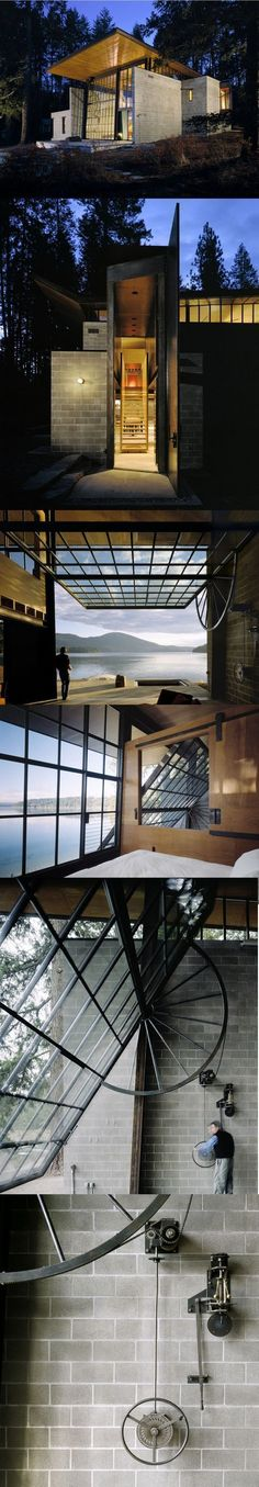 Chicken Point Cabin by Olson Kundig Architects #fachadasminimalistas